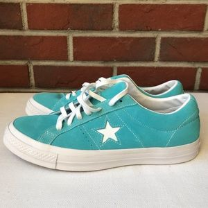 NEW.CONVERSE ONE STAR PRO OX BLUE SUEDE.MENS SIZE9
